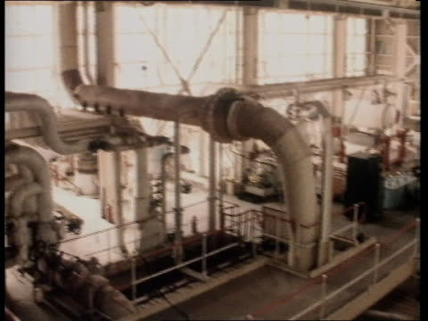 windscale ts inside of purification plant pan lr - sellafield nuclear power station stock videos & royalty-free footage
