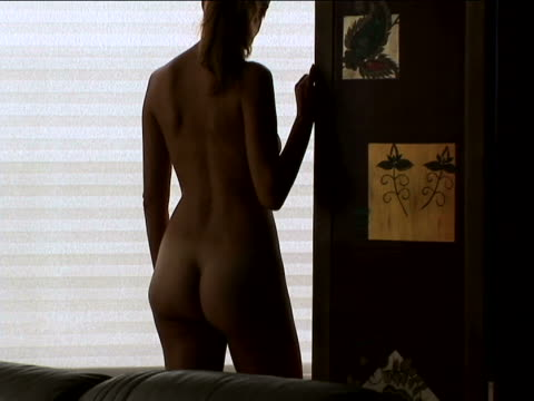 Nude sillhouette of woman