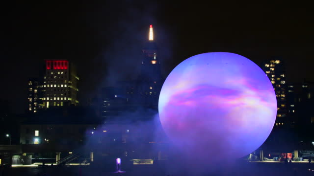 nuit blanche art projects 2016: the death of the sun by director x in nathan phillips square. director x,julien christian lutz, is the mastermind... - bling bling stock-videos und b-roll-filmmaterial