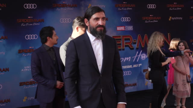 numan acar at the world premiere of spiderman far from home on june 26 2019 in hollywood california - full suit stock videos & royalty-free footage
