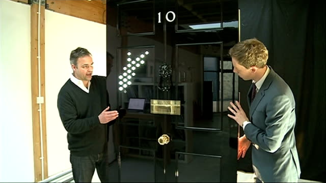 number 10 door replacement bruges interview as shows reporter how door works sot - replacement stock videos & royalty-free footage