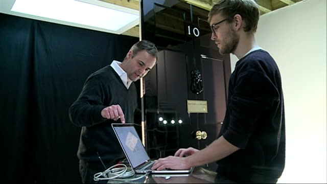 number 10 door replacement int bruges putting digital effects onto number 10 door in studio first lord of the treasury plaque being rubbed with cloth... - replacement stock videos & royalty-free footage