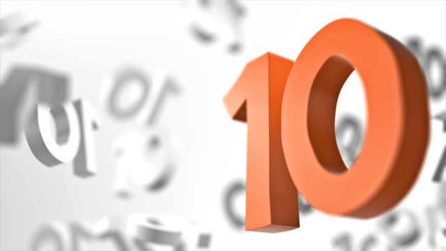 number 10 looped background - number 10 stock videos & royalty-free footage