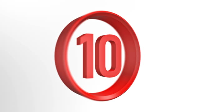 number 10, number ten loopped animation - number 10 stock videos & royalty-free footage