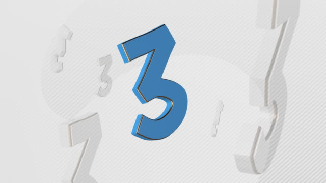 number 3, number three - 3d illustration - number 3 stock videos & royalty-free footage