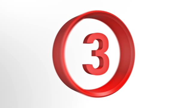number 3, number three loopped animation - number 3 stock videos & royalty-free footage