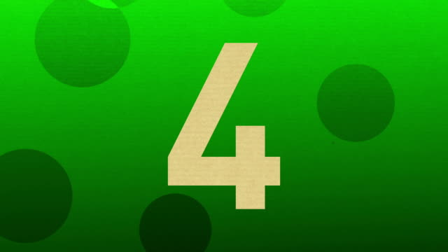 number 4 animation chroma key green for intro and countdowns - number 4 stock videos & royalty-free footage