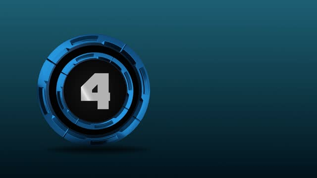 4k number 4 in the middle of 3d rotating metal circles. number movement animation loopable - number 4 stock videos & royalty-free footage