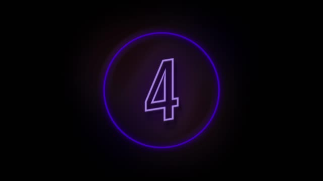 4k number 4 neon sign style flashing. number movement animation - number 4 stock videos & royalty-free footage