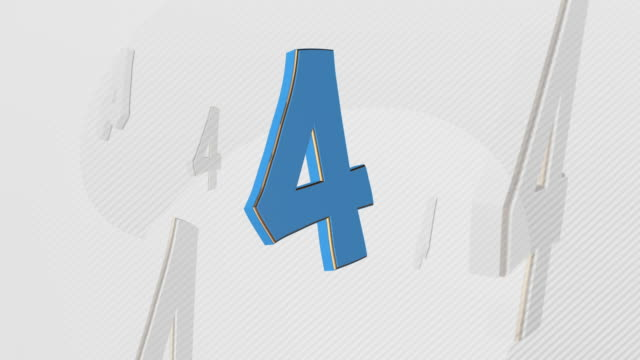 number 4, number four - 3d illustration - number 4 stock videos & royalty-free footage
