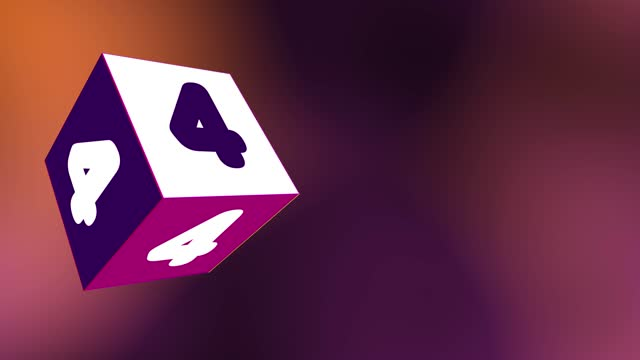 4k number 4 with 3d rotating cube. number movement animation loopable - number 4 stock videos & royalty-free footage