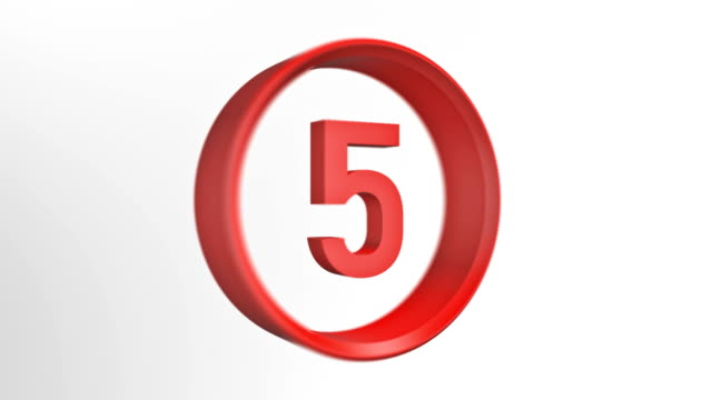 number 5, number five loopped animation - number 5 stock videos & royalty-free footage