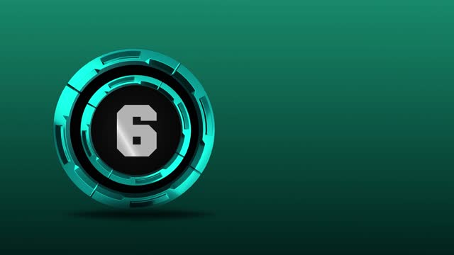 4k number 6 in the middle of 3d rotating metal circles. number movement animation loopable - number 6 stock videos & royalty-free footage