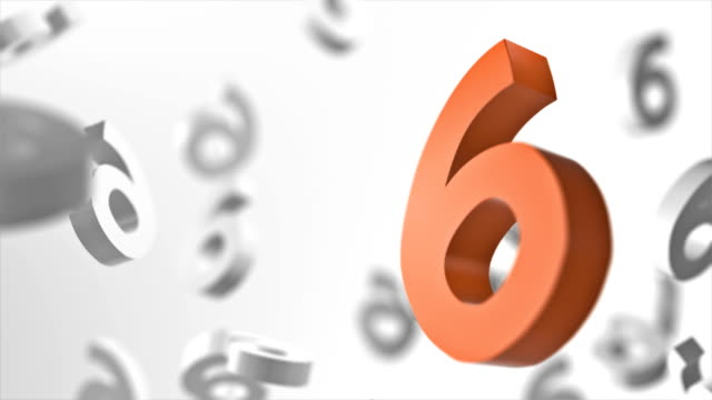 number 6 looped background - number 6 stock videos & royalty-free footage