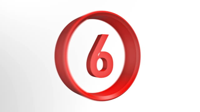 number 6, number six loopped animation - number 6 stock videos & royalty-free footage