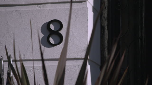 number 8 door number, london - number stock videos & royalty-free footage
