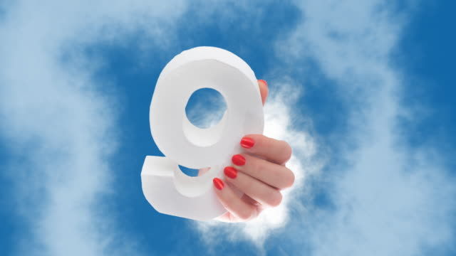 number 8 in hand shows up through a cloud - number 8 stock videos & royalty-free footage
