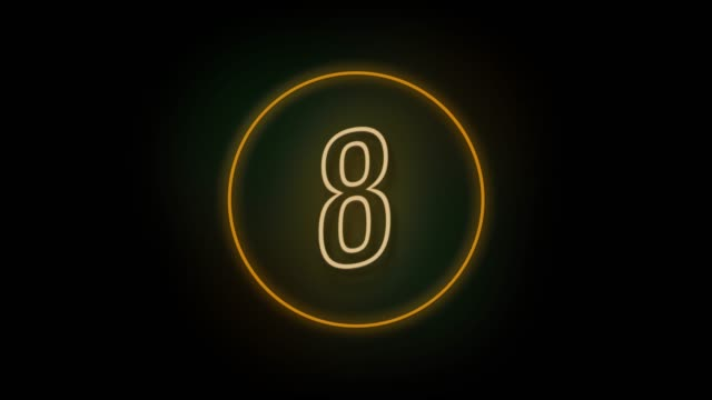 4k number 8 neon sign style flashing. number movement animation - number 8 stock videos & royalty-free footage