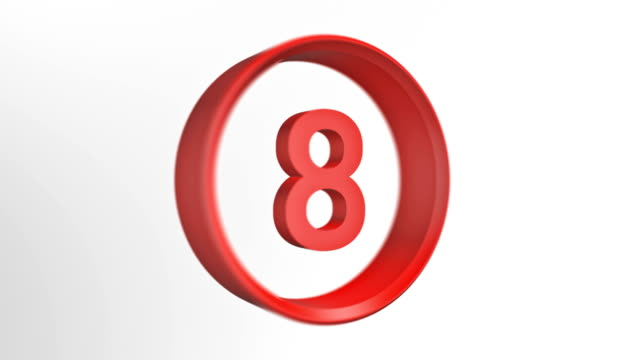 number 8, number eight loopped animation - number 8 stock videos & royalty-free footage
