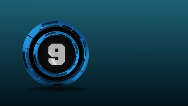 4k number 9 in the middle of 3d rotating metal circles. number movement animation loopable - number 9 stock videos & royalty-free footage