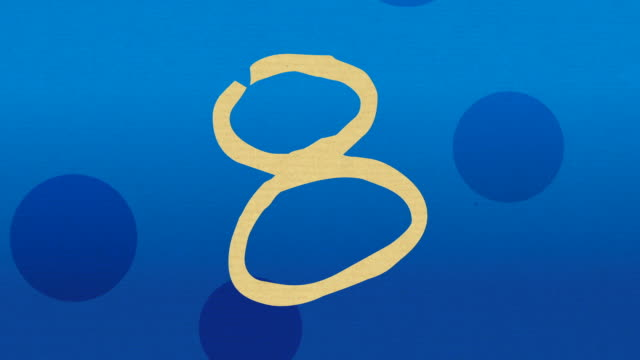 Number Eight Animation  For Intro and Countdowns