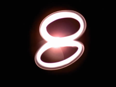 number eight - zahl 8 stock-videos und b-roll-filmmaterial