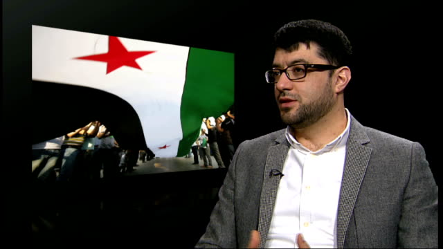 Number killed in uprising passes 5000 according to United Nations figures ENGLAND London INT Malik AlAbdeh interview SOT
