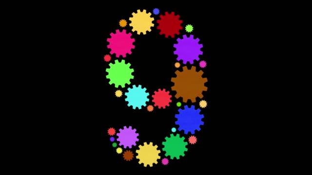 stockvideo's en b-roll-footage met nummer negen - getal 9