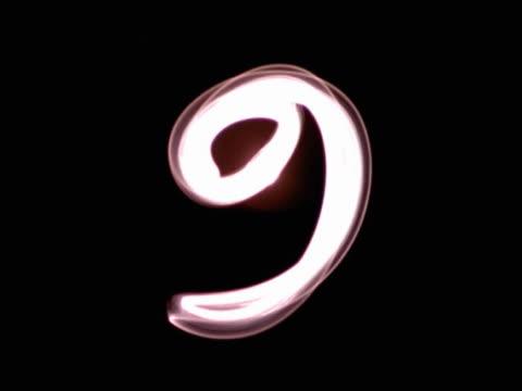 stockvideo's en b-roll-footage met number nine - getal 9