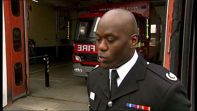 number of fires in london falls to lowest level on record england london stratford fire station ext fire engine leaving fire station with flashing... - fire drill stock videos & royalty-free footage
