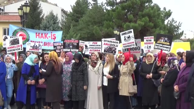 number of voluntary groups across turkey on wednesday supported mothers' protest outside the provincial office of turkish opposition, peoples'... - human joint stock videos & royalty-free footage