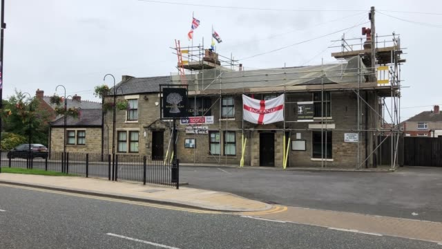 number one bar darlington and the wheatsheaf in chilton which were closed by police on saturday night for not social distancing - darlington north east england stock videos & royalty-free footage