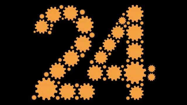 ナンバー 20 4 - 数字の4点の映像素材/bロール