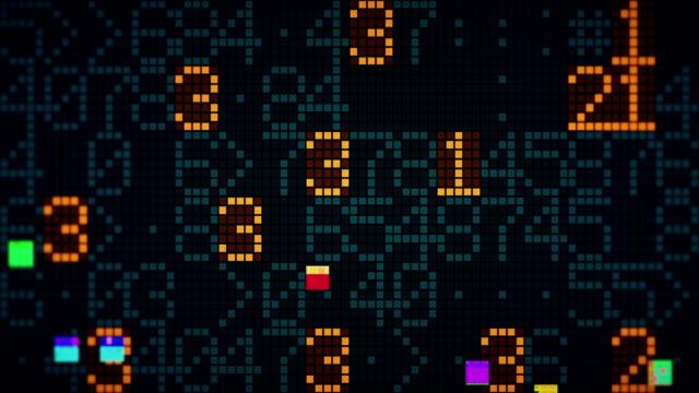 vídeos y material grabado en eventos de stock de fondos de animación números con falla - matematicas
