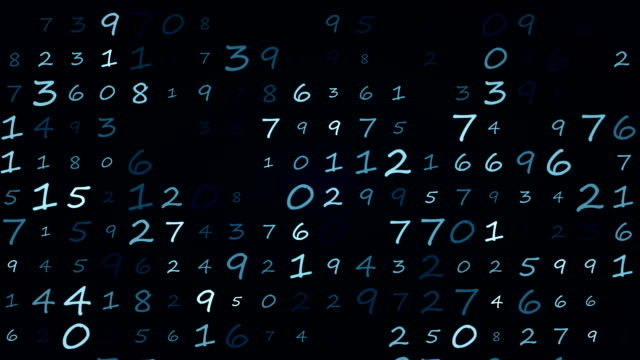 Numbers background animation loop