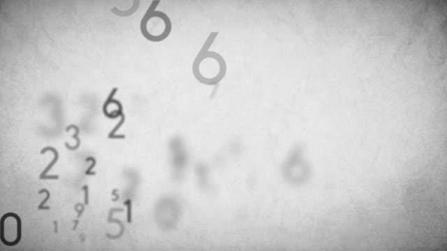 Numbers Background Loop Black - Stock Video
