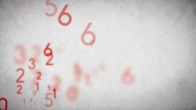 Numbers Background Loop Red - Stock Video