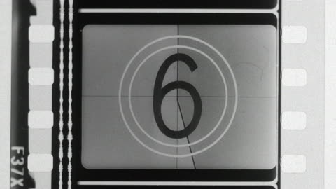 numbers countdown and up in film leader with stops - the end stock videos & royalty-free footage