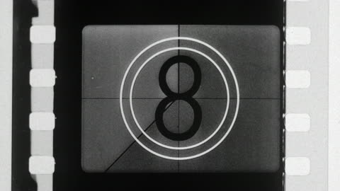 numbers countdown in film leader - the end stock videos & royalty-free footage