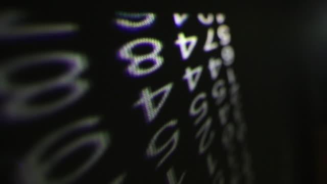 numbers room - byakkaya stock videos and b-roll footage
