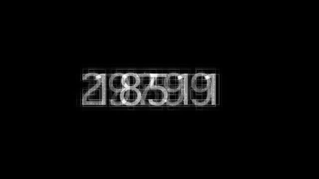 vidéos et rushes de de chiffres - nombre