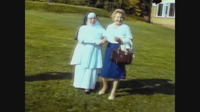 nun with people in 70's - cute stock videos & royalty-free footage