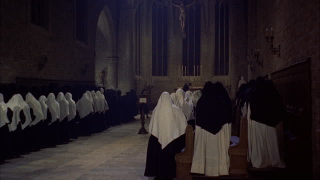 MS Nuns on both sides of chapel