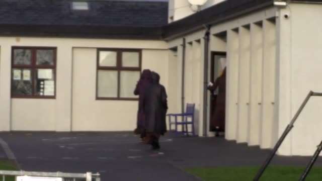 nuns voting near knock holy shrine in co mayo a carmelite monastery is nearby voting is underway in ireland in what is shaping up to be one of the... - shrine stock videos & royalty-free footage