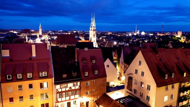 nuremberg by night - nuremberg stock videos & royalty-free footage