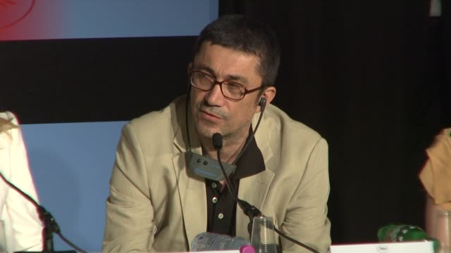 nuri bilge ceylan on how some original films can seem boring on first glance at the cannes film festival 2009: jury press conference at cannes . - sideways glance stock videos & royalty-free footage