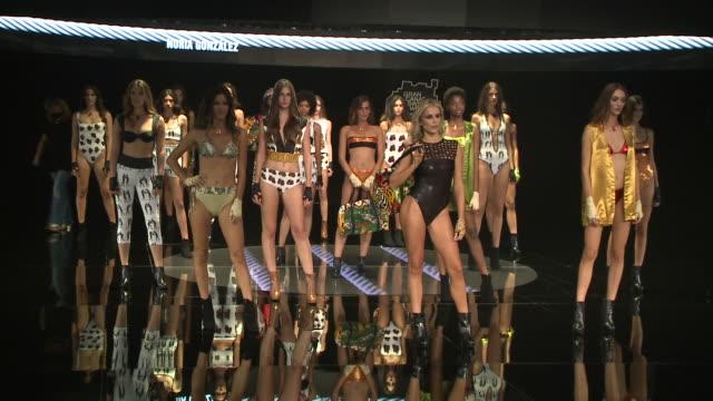 runway - day 3 - 'moda calida' in gran canaria - swim week - マレーナ コスタ点の映像素材/bロール