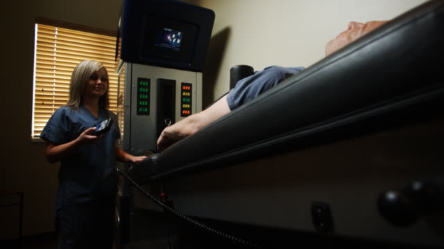 nurse and patient on a machine - payson stock videos & royalty-free footage