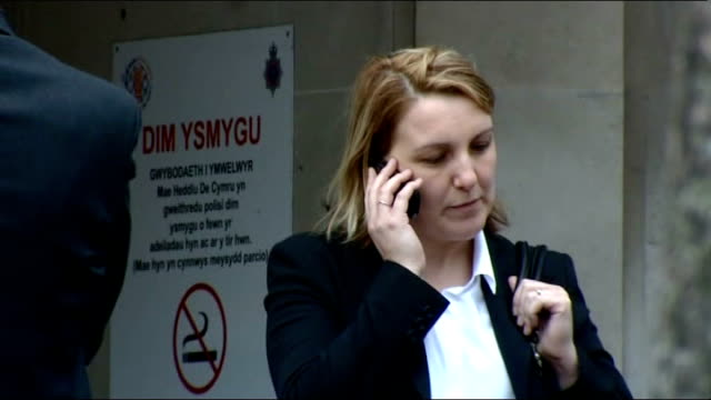 nurse criticised over fatal dose of insulin; wales: ext joanne evans outside court - dose stock videos & royalty-free footage
