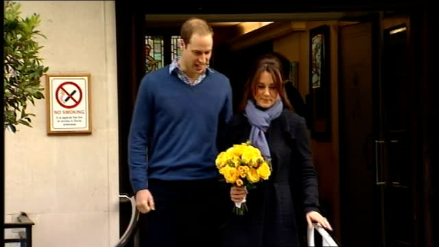 radio presenters to give interview 6122012 england london marylebone king edward vii hospital photography** catherine duchess of cambridge standing... - メリルボーン点の映像素材/bロール